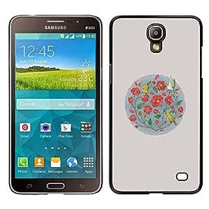 Samsung Galaxy Mega 2 / SM-G750F / G7508 Único Patrón Plástico Duro Fundas Cover Cubre Hard Case Cover - Flowers Minimalist Birds Nature