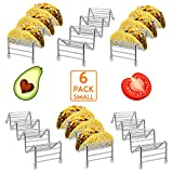 HR Stainless Steel Taco Holders Taco Stand Hold 18 or 24 Hard or Soft Shell Tacos Truck Tray Style Oven Safe for Baking (6pack)
