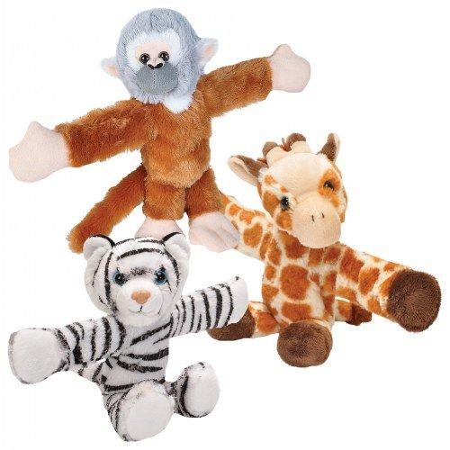(Wild Republic Huggers Plush Giraffe, Monkey, and Tiger)