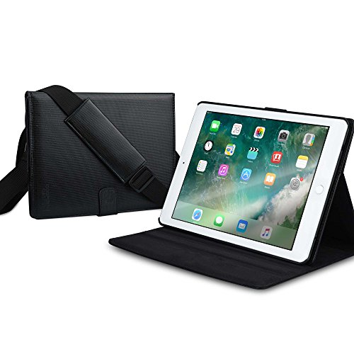 iPad Pro 9.7 / iPad Air 2 case, [NEW] COOPER MAGIC CARRY II PRO Shoulder Strap Travel Rugged Shock Proof Protective Tablet Cover Folio with Handle & Stand for Apple iPad Pro 9.7 / iPad Air 2 (Black)