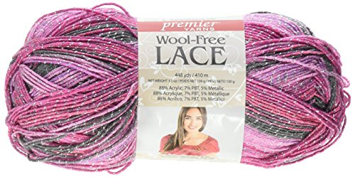 Premier Yarns Wool-Free Lace Yarn, Berry Smash ()