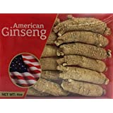 Hand-selected A Grade American Ginseng Large Medium-Short Size (4 Oz. Box)