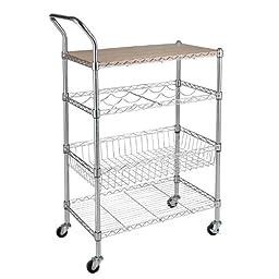 Sandusky 26x14 Utility Cart - Chrome