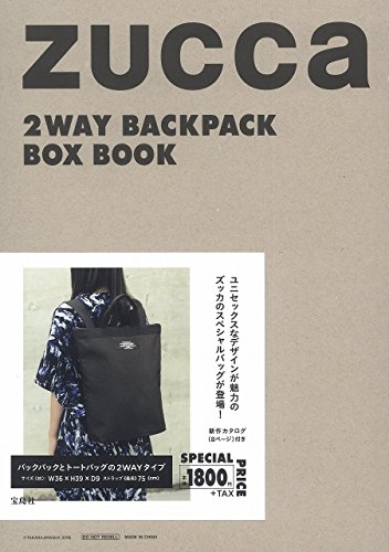 ZUCCa 2WAY BACKPACK BOX BOOK 画像