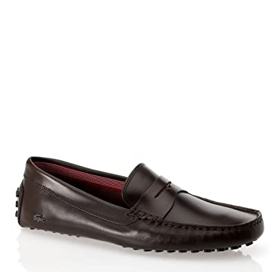 e5f3b007a3f38b Lacoste Footwear Loafers Concours 14 Dk Brown Slip On Driving Shoes  Amazon.co.uk   Shoes   Bags