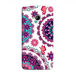 Cover It Up - Flower Design White One M7 Hard Case