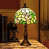 Gweat French Rural Style Tiffany 12-Inch Colourful Glass Dragonfly Pendant Lamp For Living Room