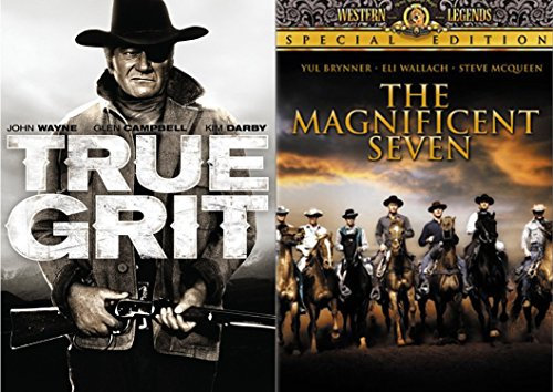 Classic Western 2-Movie Collection - John Wayne in True Grit & The Magnificent Seven 2-DVD Bundle