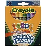 Bulk Buy: Crayola Large Washable Crayons 8/Pkg 52-3280 (3-Pack)