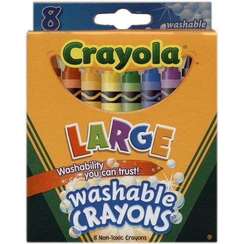 Chunky Crayons (Bulk Buy: Crayola Large Washable Crayons 8/Pkg 52-3280 (3-Pack))