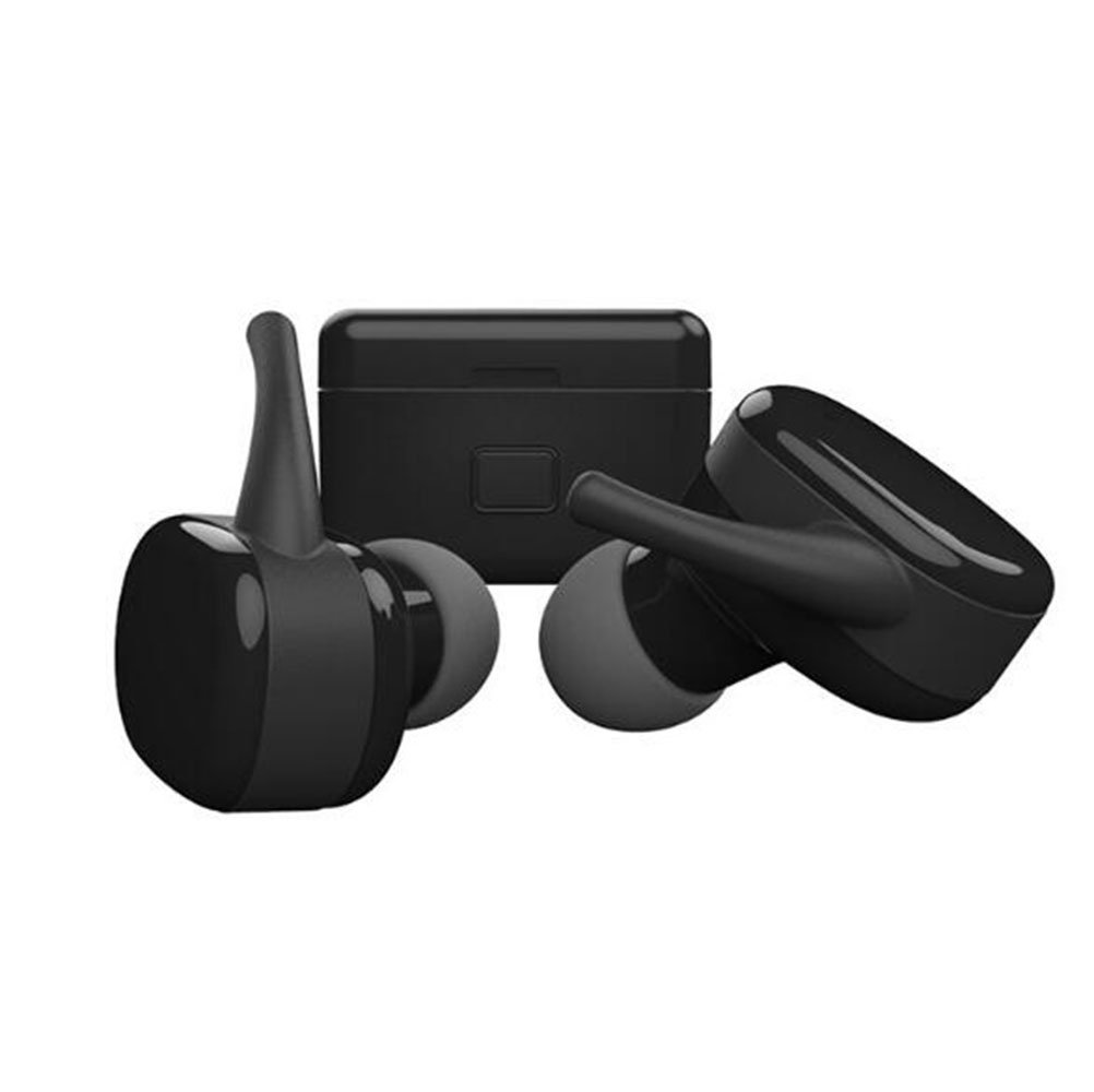 TBA Bluetooth Headphones, In-Ear Sport Earphones, HiFi HD Stereo Sweatproof with Mic for Running Comfortable Lightweight Noise Cancelling Headset Black