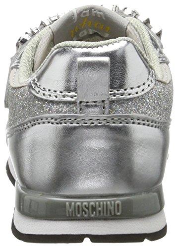 Moschino 26040, Zapatillas Para Niñas plateado (plateado)