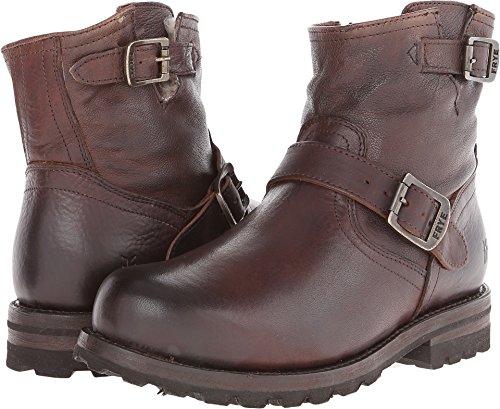 - FRYE Men's Warren Engineer Blazer Brown Tumbled Leather/Shearling 10 D US