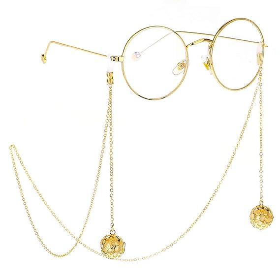 Yunso - Collar de cadena de cristal para gafas de sol con ...