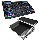 Denon DJ MCX8000 Standalone DJ Player and Serato 4-Channel DJ Controller With ProX XS-MCX8000WLT Denon MCX8000 Controller DJ Flight road ready hard carrying case with glide style laptop shelf.