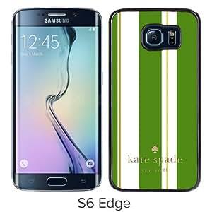 Genuine Kate S6 Edge Case,Kate Spade 166 Black Samsung Galaxy S6 Edge Screen Phone Case Nice and Luxury Design