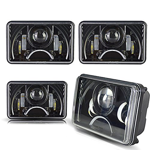 SPEAD-VMALL DOT Approved Rectangular 4X6 LED Headlight, used for sale  Delivered anywhere in USA