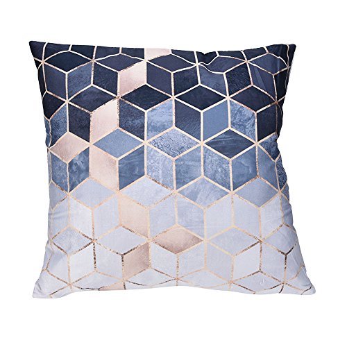 Throw Pillow Covers, E-Scenery Comfy Polyester Square Decorative Throw Pillow Cases Cushion Cover for Sofa Bedroom Car…