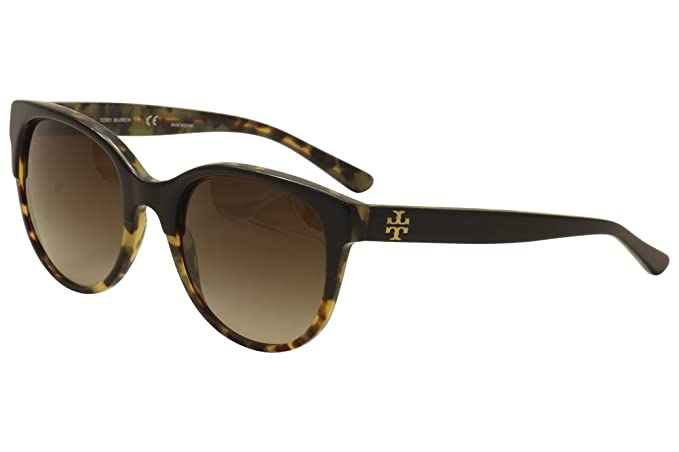 0e4fdd250f17 Tory Burch TY7095 Sunglasses 160113-54 - Black/Tortoise Frame, Dark Brown  Gradient