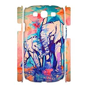 DDOUGS Indian Elephant Brand New Cell Phone Case for Samsung Galaxy S3 I9300, DIY Samsung Galaxy S3 I9300 Case