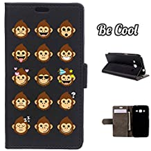 BeCool® - Flip Cover Case Samsung Galaxy Core Prime [ Viewing Stand ] Black Elegant Wallet , protects and adapts flawlessly to your Smartphone, together with our exclusive designs. Monkey mood states
