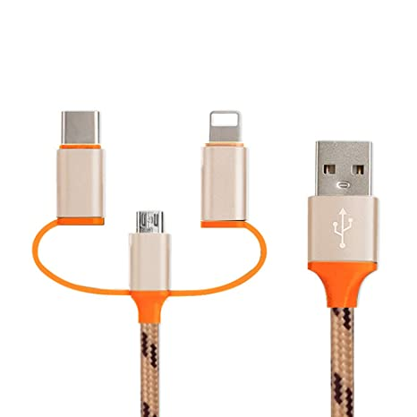 Amazon.com: 3 en 1 cable USB Multi cargador de 4 pies de ...