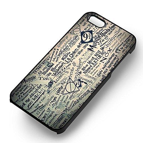 Harry Potter Collage 1 pour Coque Iphone 6 et Coque Iphone 6s Case (Noir Boîtier en plastique dur) Y7S4VA