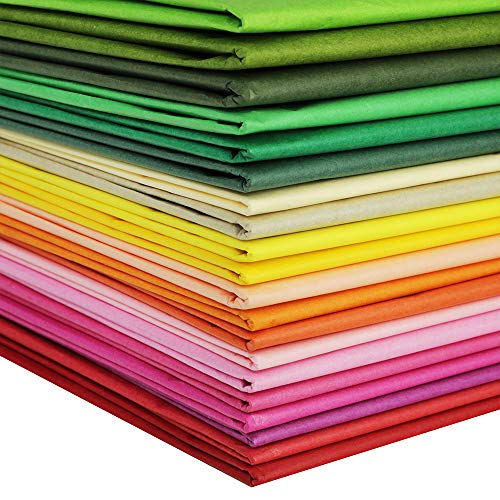 Supla 180 Sheets 36 Colors Tissue Paper Bulk Wrapping Tissue Paper