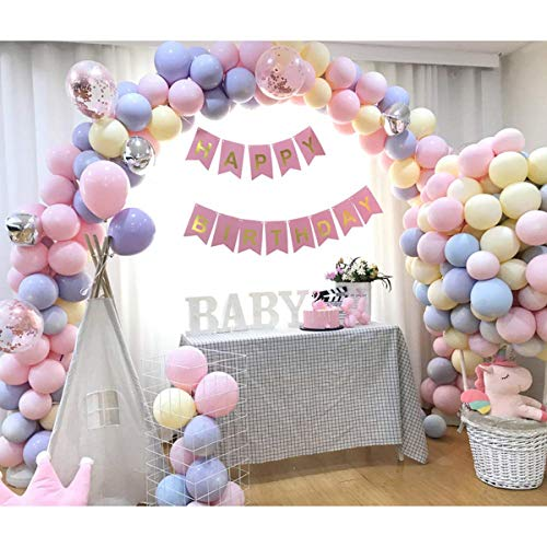 Pastel Balloons for Party Supplies - 10 Inches 100pcs Assorted Macaron Candy Colored Pastel Latex Balloons for Parties Weeding Party Decor Decorations Balloons Bulk Arch Baby Shower Birthday Supplies (Macaron Party Supplies)