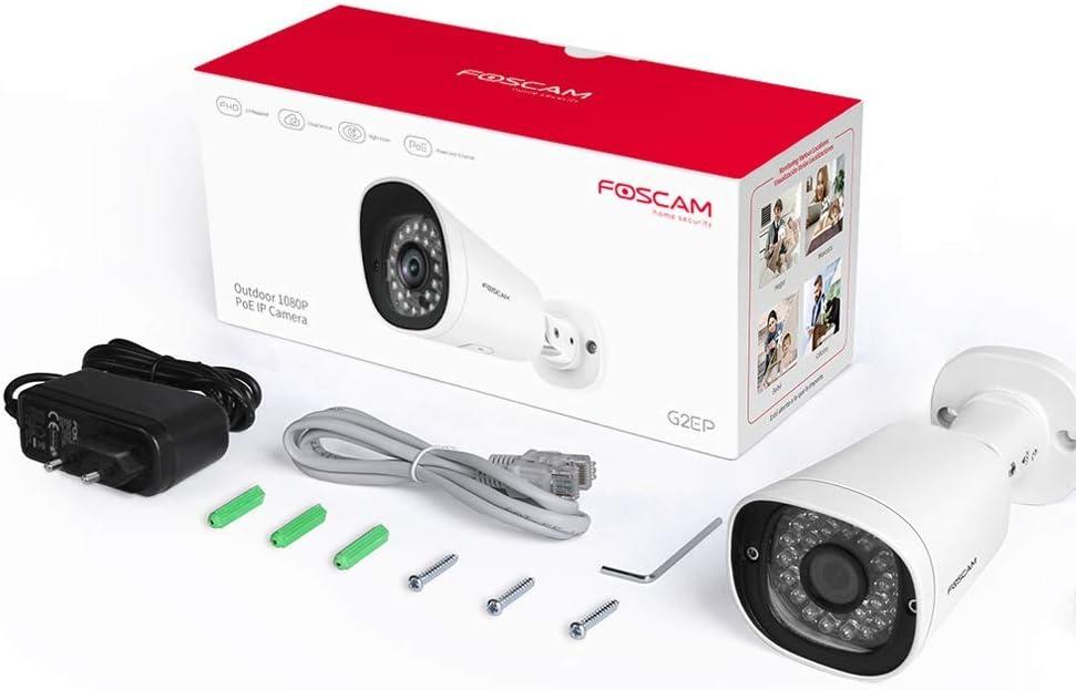 Foscam G2ep 1080p Ip Poe Überwachungskamera Ai Menschliche Erkennung Nachtsicht Kompatibel Mit Alexa Poe P2p Ip66 Onvif Baumarkt