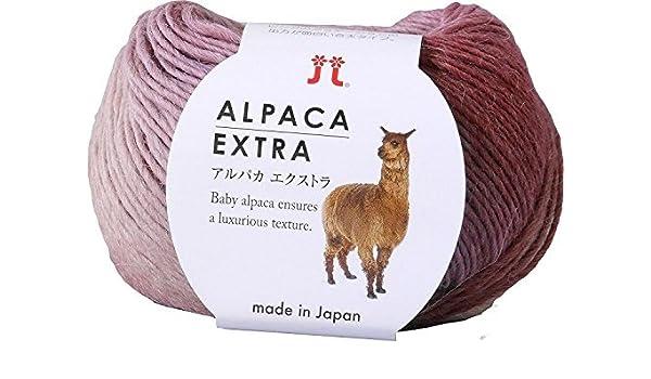 Hilado de hilo extra de alpaca LUZ Col.14 Juego de balón rosa de ...