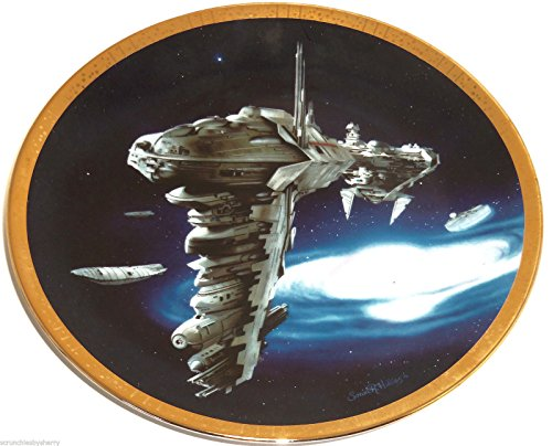 Star Wars Collector Plate Medical Frigate Space Vehicles Hamilton Collection 1997 (Plate Hamilton Collector Collection)