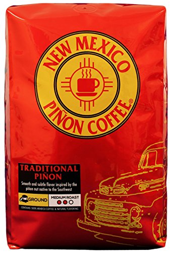Ground Traditional - New Mexico Piñon Coffee Naturally Flavored Coffee (Traditional Piñon Ground, 2 pound)