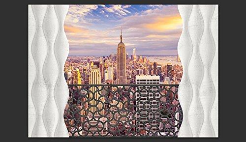 murando Papier peint intiss/é 350x256 cm D/écoration Murale XXL Poster Tableaux Muraux Tapisserie Photo Trompe loeil Ville New York d-A-0042-a-c