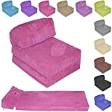 Gilda JAZZ CHAIRBED - OCEAN CORD Deluxe Single Chair Bed futon (Pink)