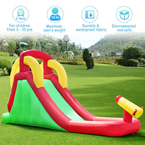 Costzon Inflatable Water Slide, Climb and Slide Bouncer for Kids Without Blower by Costzon (Image #8)
