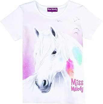 Miss Melody Niñas Camiseta, Blanco