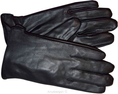 Italian Styled Man's Fine Leather Gloves, Winter Gloves Guantes De Envierno (2XL)