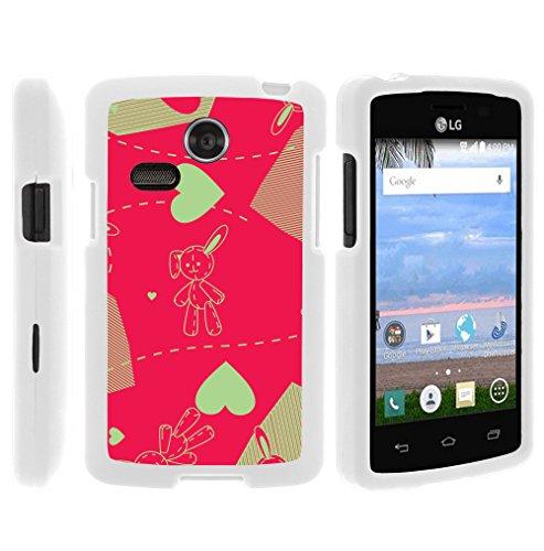 MINITURTLE Case Compatible w/LG Lucky L16C Phone Case, Hard Shield Phone Case Hard Jacket w/Unique Designs LG Sunrise L15G, LG Lucky L16C Plush Love