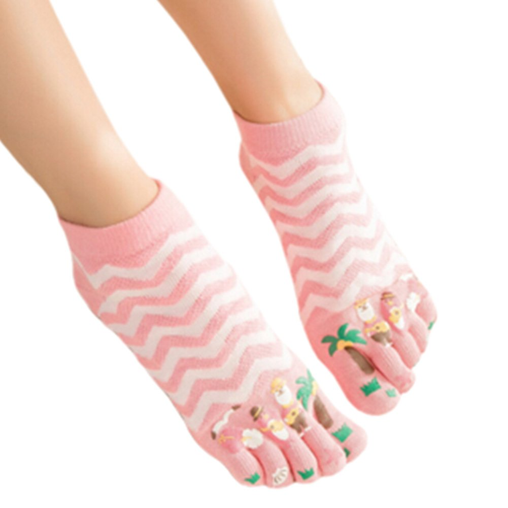 Womens Cotton Toe Socks Barefoot Ventilate Sports Socks, 1 Pair NO.01