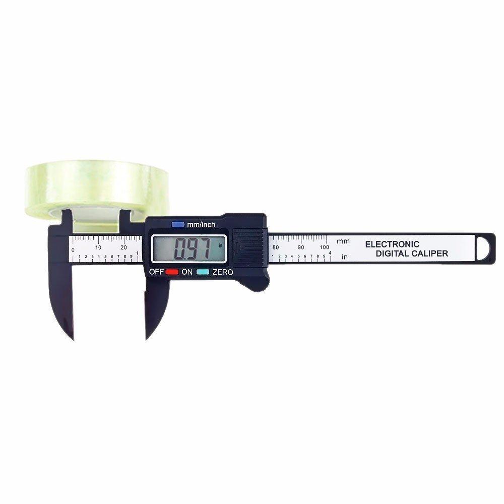4/'/'LCD 100mm Plastic Gauge Caliper Electronic Digital Vernier Measure Micrometer
