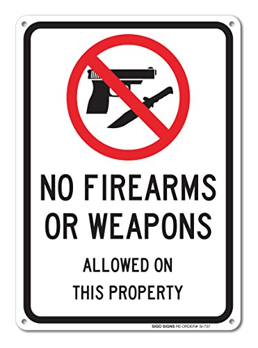 Firearms Weapons Allowed Aluminum Outdoor product image