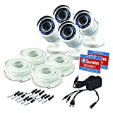Swann 720P HD Bullet Security Cameras - Pack of 4, Pro-T850,White (Compatible with Swann 4500 Series) - SRPRO-T850WB4-US