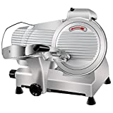 Super Deal Commercial Stainless Steel Semi-Auto Meat Slicer, Cheese Food Electric Deli Slicer