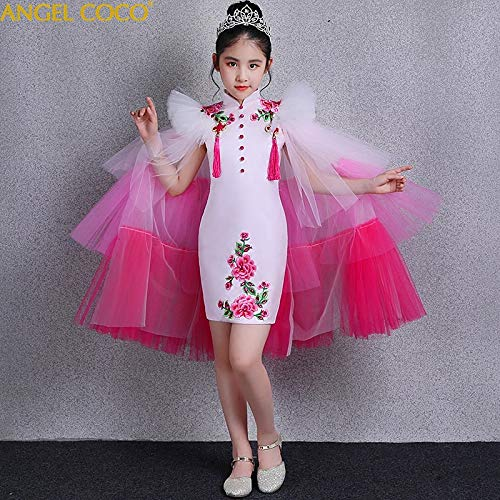 SeedWorld Dresses - Pieces Chinese Girls Cheongsam 2018 New Summer Detachable Catwalk Costumes Children Girl China Style Carnaval Princess Dress 1 PCs