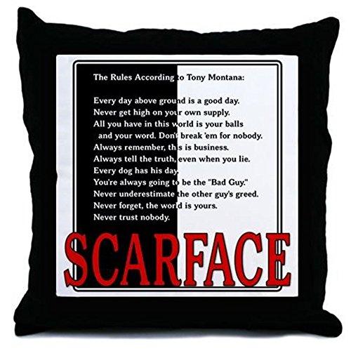 CafePress - Scarface Tony Montana's Rules - Throw Pillow, Decorative Accent Pillow