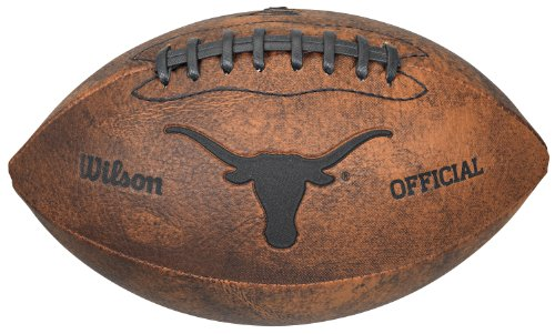 NCAA Texas Longhorns Wilson 9-Inch Throwback - Ut Football Longhorn
