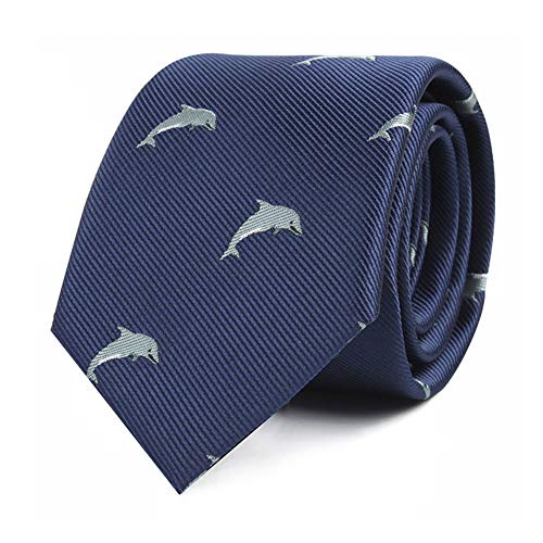 Dolphin Ties for Him | Sea Animal Lover | Work Ties for Him | Birthday Gift for Guys (Dolphin)