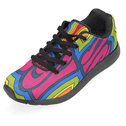 InterestPrint Womens Jogging Running Sneaker Lightweight Go Easy Walking Casual Comfort Running Shoes Rainbow Psychedelic Oh Yeah Multi 1 zlapUu