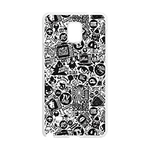 Black & White Quotes Samsung Galaxy Note4 Phone Case, DIY Samsung Galaxy Note4 Case